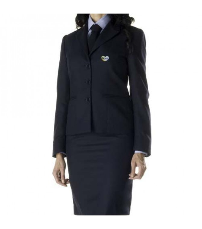 royal blue receptionist uniform suit
